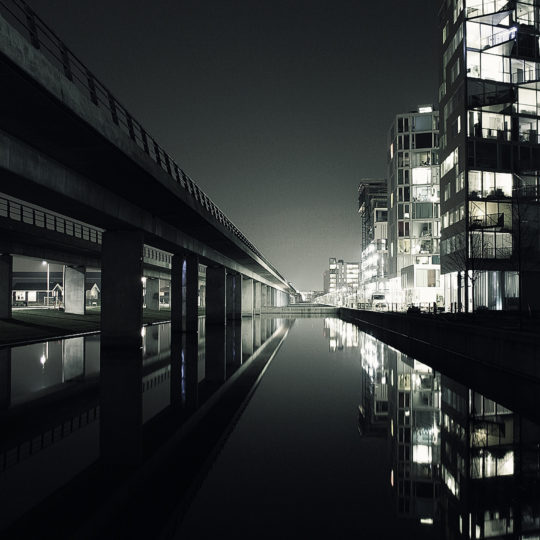 Landscape urban black Android SmartPhone Wallpaper