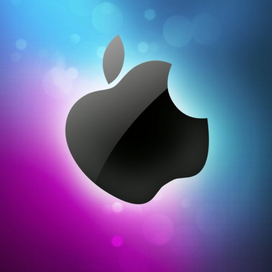 Apple  purple  blue Android SmartPhone Wallpaper