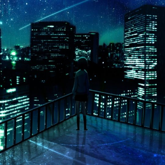 Urban landscape at night Android SmartPhone Wallpaper