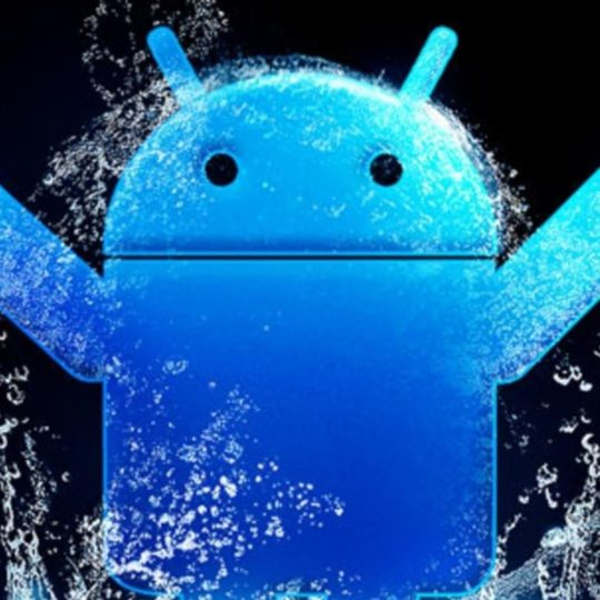 Android logo blue Android SmartPhone Wallpaper