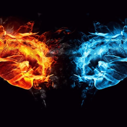 Flame pattern red blue Android SmartPhone Wallpaper