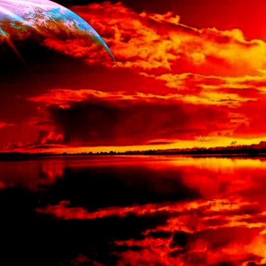 Landscape sunset red Android SmartPhone Wallpaper