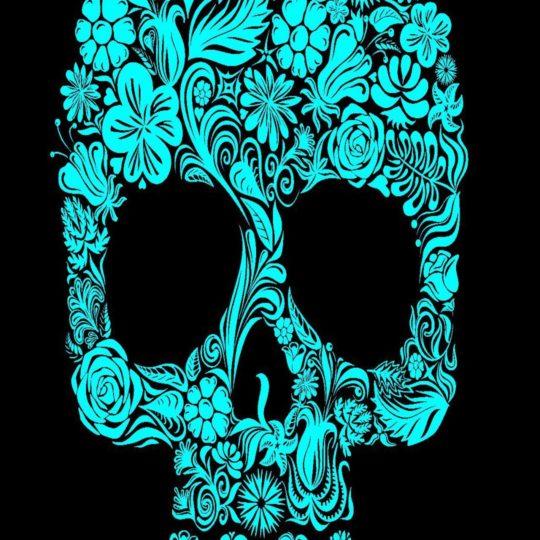 Blue skull logo Android SmartPhone Wallpaper
