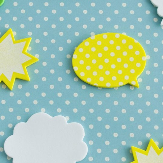 Yellow, green, and blue balloon cute illustrations Android SmartPhone Wallpaper