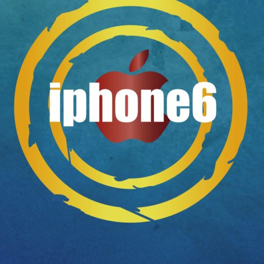 Illustration blue iPhone6 Apple logo Android SmartPhone Wallpaper