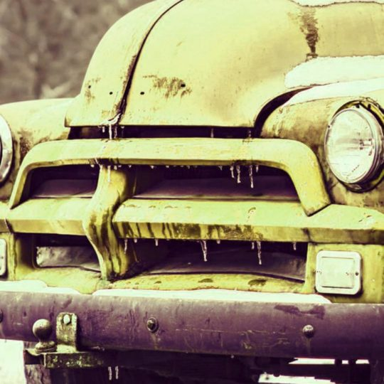 Landscape car yellow Android SmartPhone Wallpaper