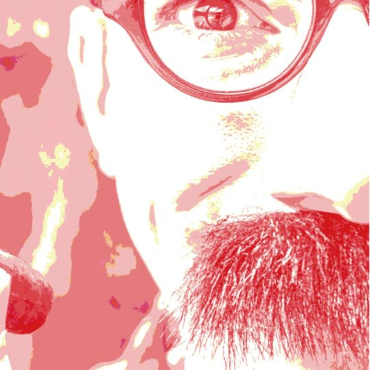Character man beard glasses red Android SmartPhone Wallpaper