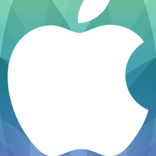 Apple logo spring events, green, and blue purple Android SmartPhone Wallpaper