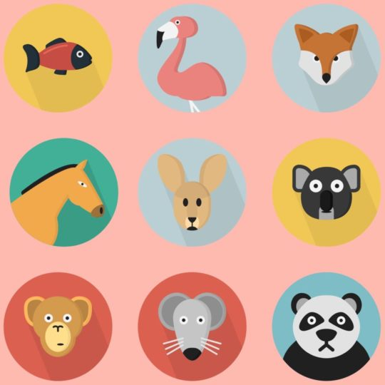 Illustrations animal Akamomo colorful for women Android SmartPhone Wallpaper