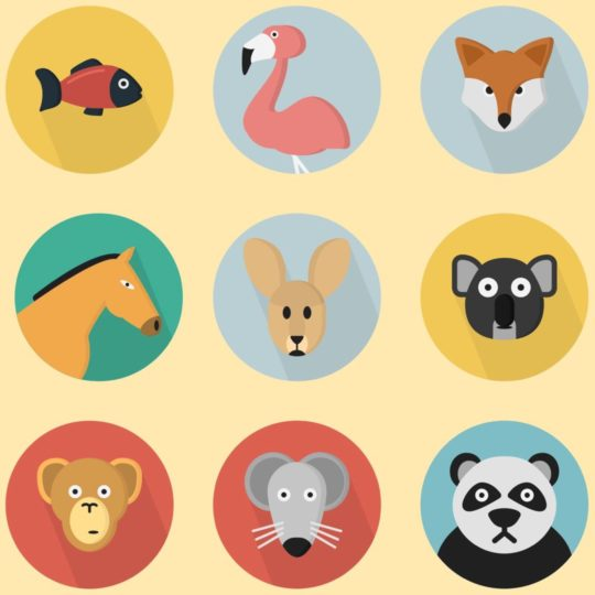 Illustration animal yellow colorful for women Android SmartPhone Wallpaper