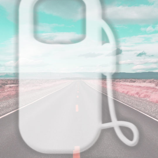 Landscape road light blue Android SmartPhone Wallpaper