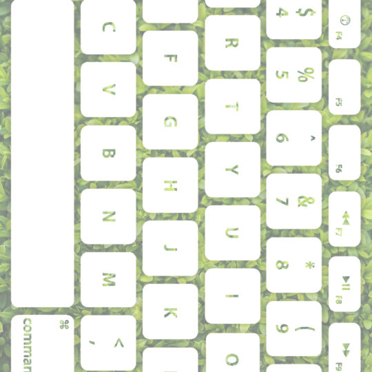 Leaf keyboard Yellow-green white Android SmartPhone Wallpaper