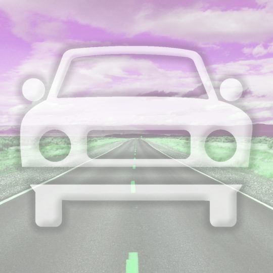Landscape car road Pink color Android SmartPhone Wallpaper