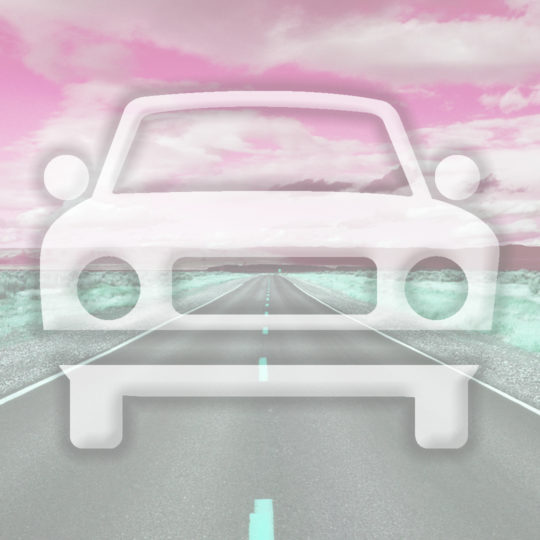 Landscape car road Red Android SmartPhone Wallpaper