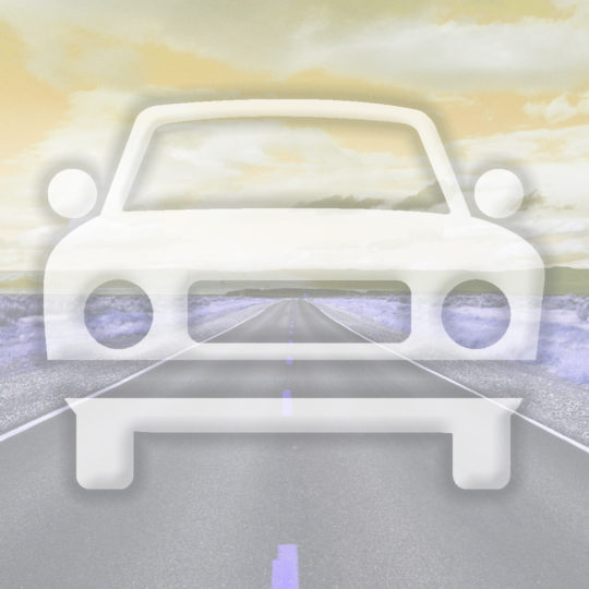 Landscape car road yellow Android SmartPhone Wallpaper