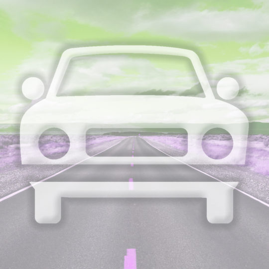 Landscape car road Yellow green Android SmartPhone Wallpaper