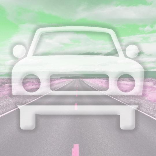 Landscape car road Green Android SmartPhone Wallpaper