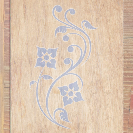 Wood grain leaves Brown Blue Purple Android SmartPhone Wallpaper