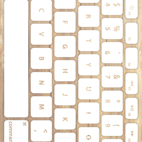 Wood grain keyboard Yellowish white Android SmartPhone Wallpaper