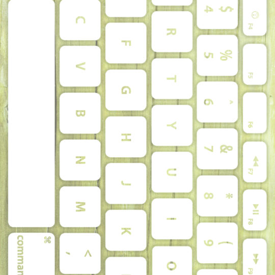 Wood grain keyboard Yellow-green white Android SmartPhone Wallpaper