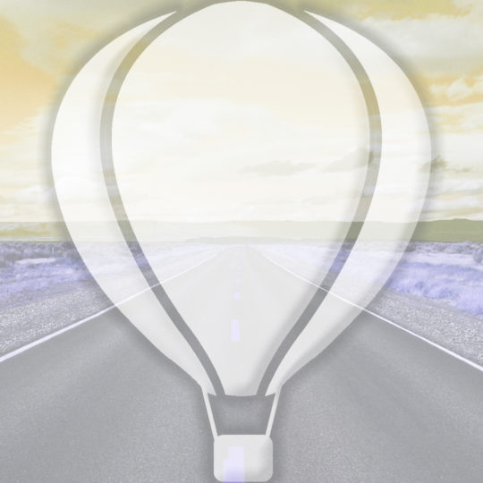 Landscape road balloon yellow Android SmartPhone Wallpaper