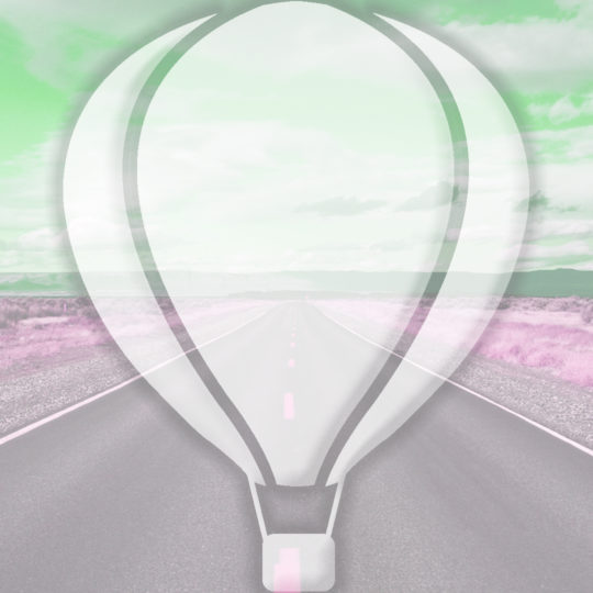 Landscape road balloon Green Android SmartPhone Wallpaper