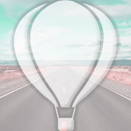Landscape road balloon light blue Android SmartPhone Wallpaper