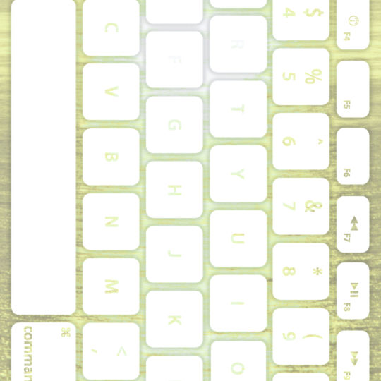 Sea keyboard Yellow-green white Android SmartPhone Wallpaper