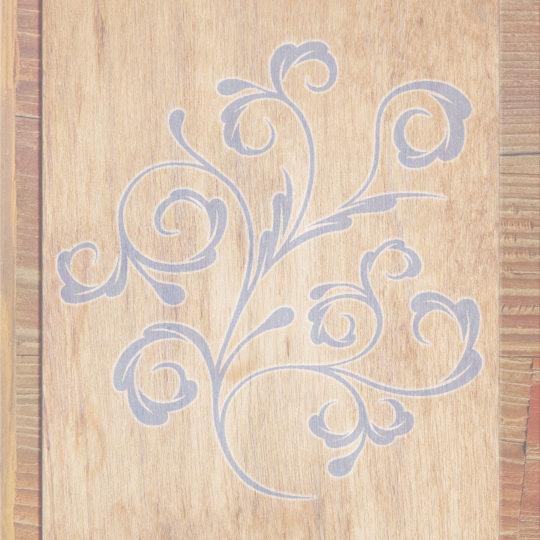 Wood grain leaves Brown Blue Purple Android SmartPhone Wallpaper