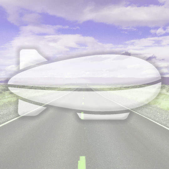 Landscape road airship Purple Android SmartPhone Wallpaper