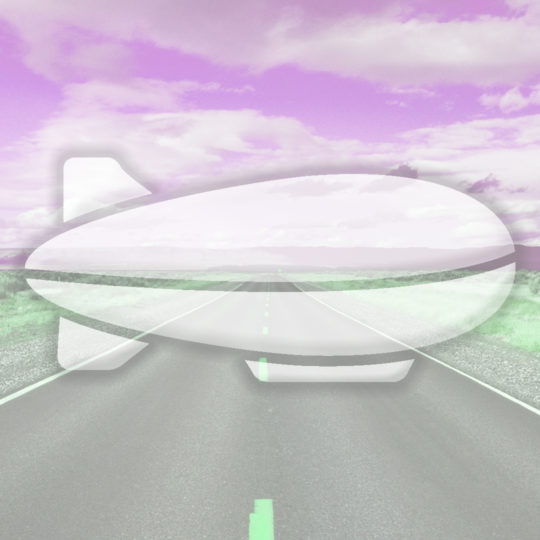 Landscape road airship Pink Android SmartPhone Wallpaper