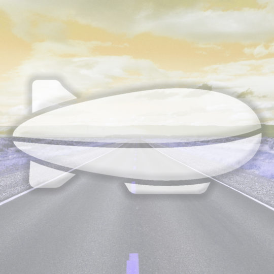 Landscape road airship yellow Android SmartPhone Wallpaper