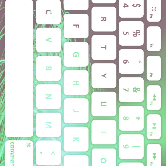 keyboard Blue-green white Android SmartPhone Wallpaper