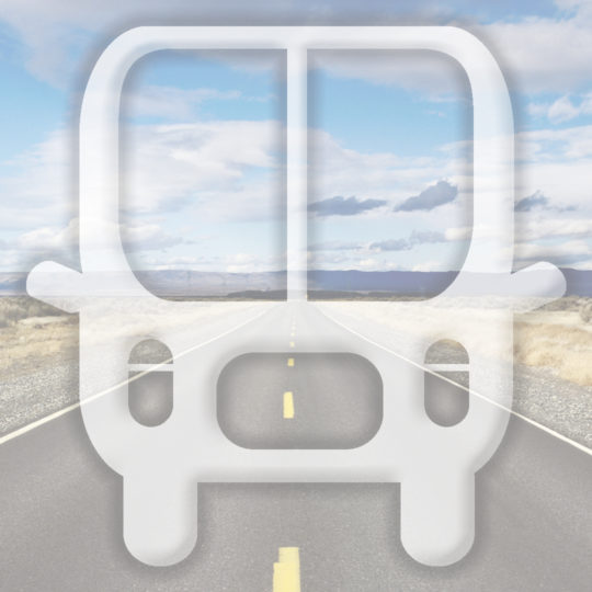 Landscape road bus Blue Android SmartPhone Wallpaper
