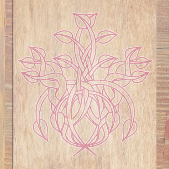Wood grain leaves Brown red Android SmartPhone Wallpaper