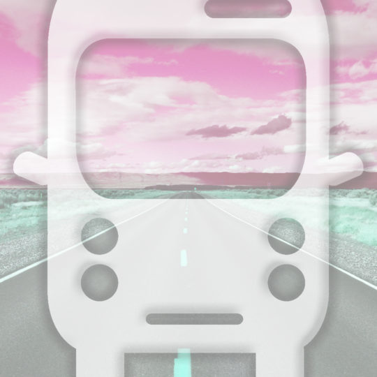 Landscape road bus Red Android SmartPhone Wallpaper