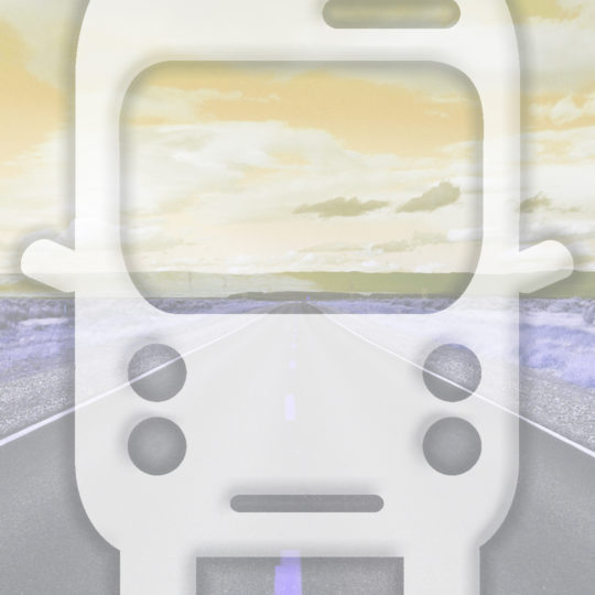 Landscape road bus yellow Android SmartPhone Wallpaper