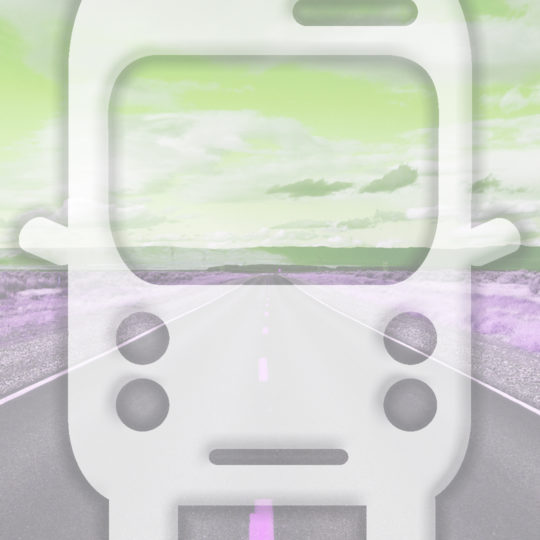 Landscape road bus Yellow green Android SmartPhone Wallpaper