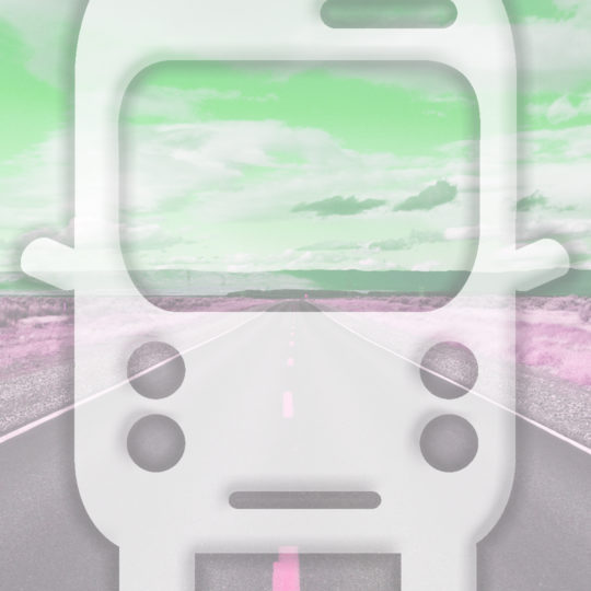 Landscape road bus Green Android SmartPhone Wallpaper