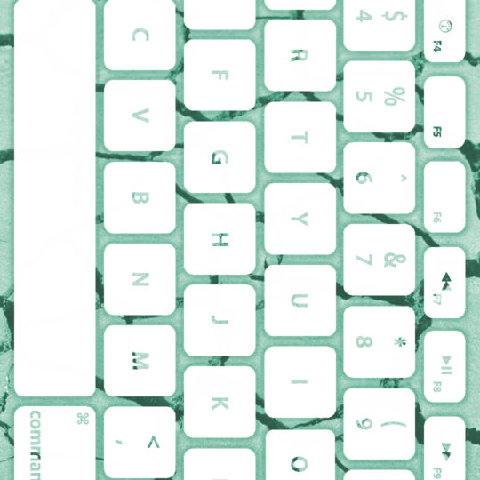 Ground keyboard Blue-green white Android SmartPhone Wallpaper