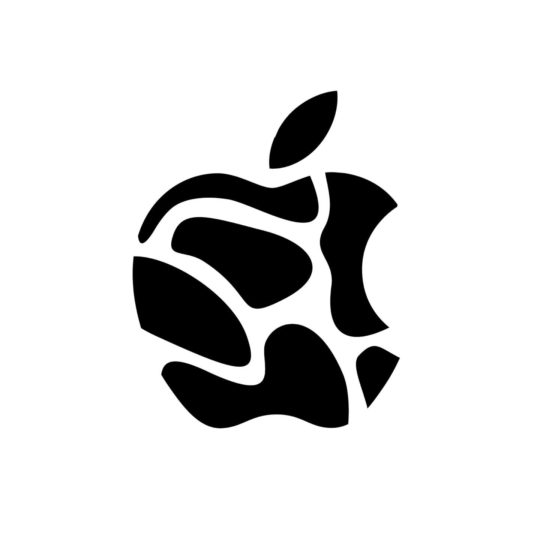 Apple black and white Android SmartPhone Wallpaper