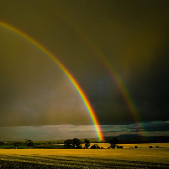 Landscape rainbow Android SmartPhone Wallpaper
