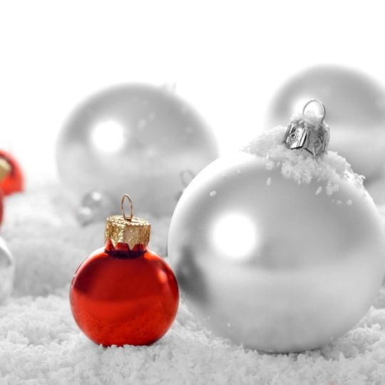 Christmas decorations white Android SmartPhone Wallpaper