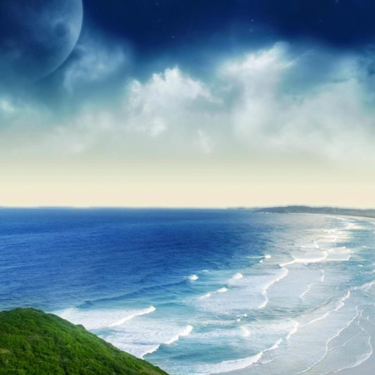 Landscape  sea  blue Android SmartPhone Wallpaper