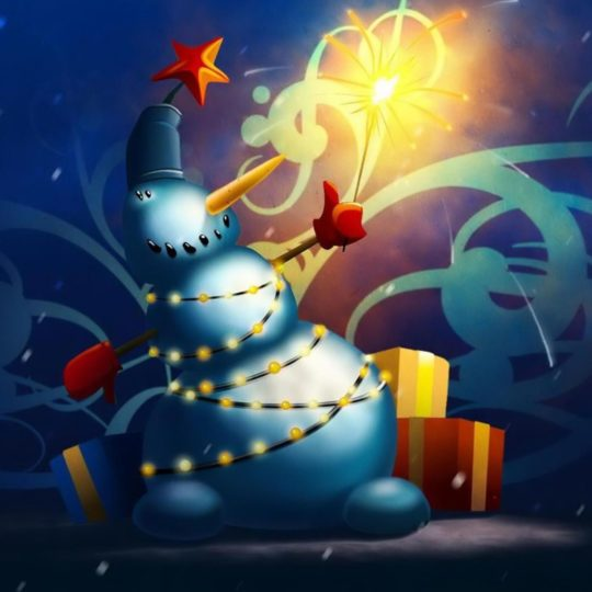 Christmas snowman Android SmartPhone Wallpaper