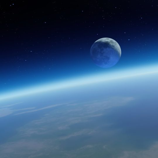 Earth and Space blue Android SmartPhone Wallpaper