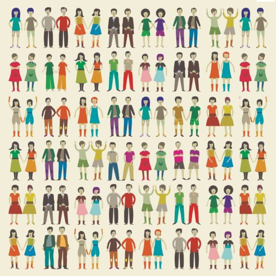 Character pattern people Android SmartPhone Wallpaper