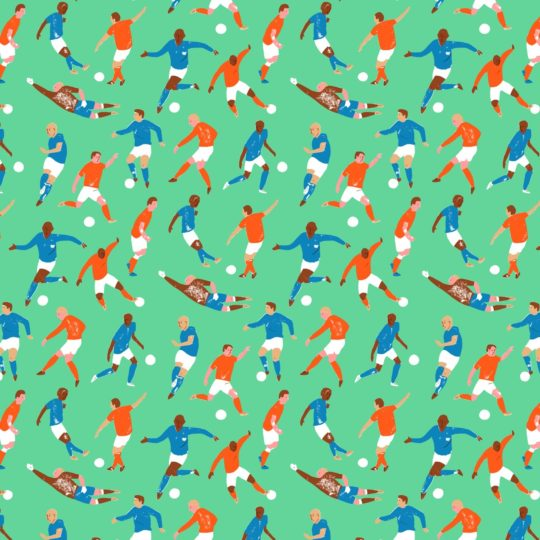 Character pattern soccer Android SmartPhone Wallpaper