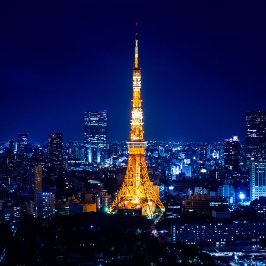Landscape Tokyo Tower Android SmartPhone Wallpaper