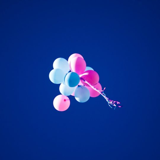 Landscape blue balloons Android SmartPhone Wallpaper